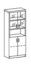Шкаф со стеклом 2 ДС-708