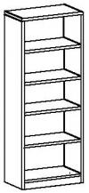 Шкаф-стеллаж открытый 7 ДО-718