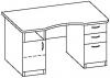 Стол офисный 7 СД-614