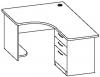 Стол офисный угловой 7 СТУ-132