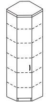 Шкаф угловой 2 ДКУ-621
