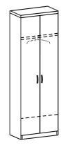 Шкаф платяной 2 ДП-721