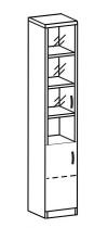 Пенал со стеклом 2 ДС-321