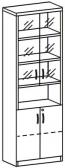 Шкаф со стеклом 3 ДС-721