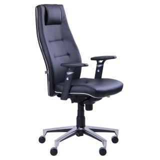 Кресло Элеганс HB чёрный кожзам