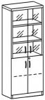 Шкаф со стеклом 3 ДС-718