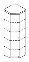 Шкаф угловой 2 ДКУ-618