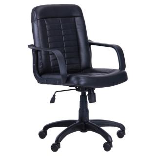 Кресло Нота чёрный кожзаменитель