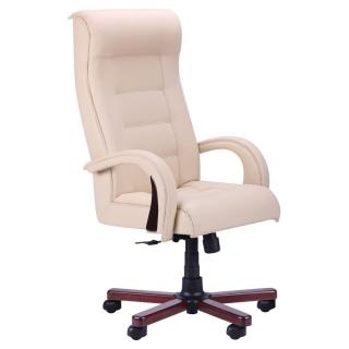 Кресло Роял люкс кожзам бежевый