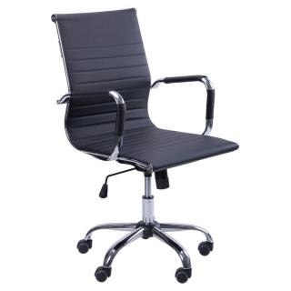 Кресло Slim LB кожзам чёрный