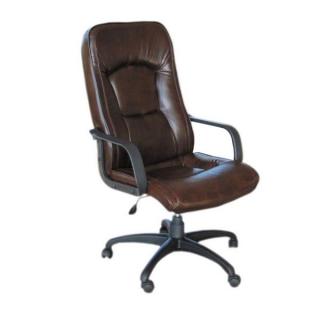 Кресло Торонто пластик коричневый кожзам