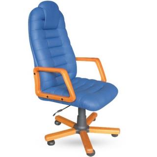 Кресло Тунис экстра кожзам синий