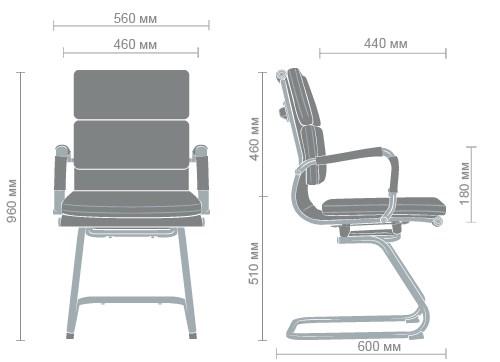 Размеры кресла Slim FX CF