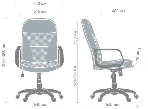 Размеры кресла Анкор PL