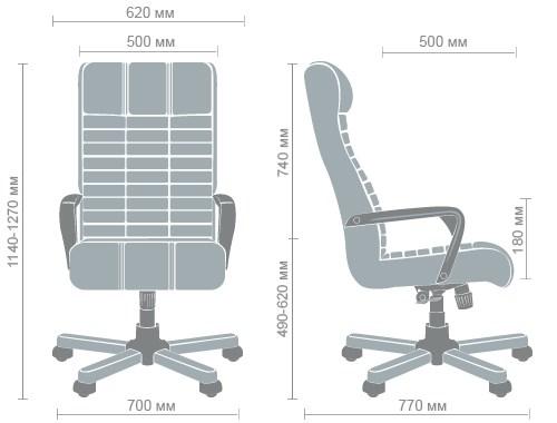 Размеры кресла Атлантис Флеш