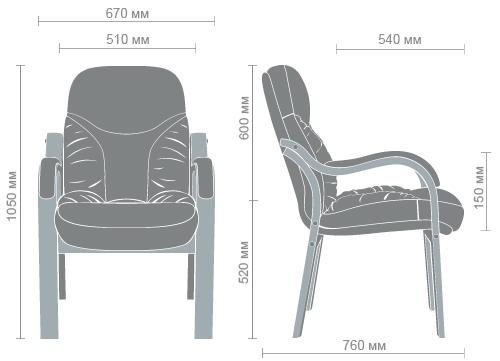 Размеры кресла Буффало CF