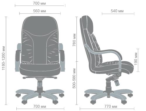 Размеры кресла Буффало HB