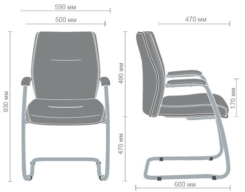 Размеры кресла Элеганс CF