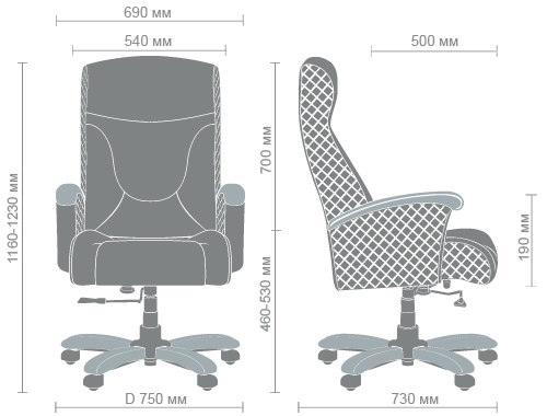 Размеры кресла Галант DT