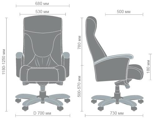 Размеры кресла Галант MB