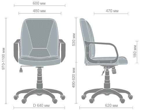 Размеры кресла Лига PL