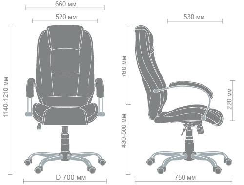 Размеры кресла Надир