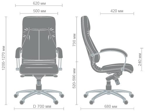 Размеры кресла Ника