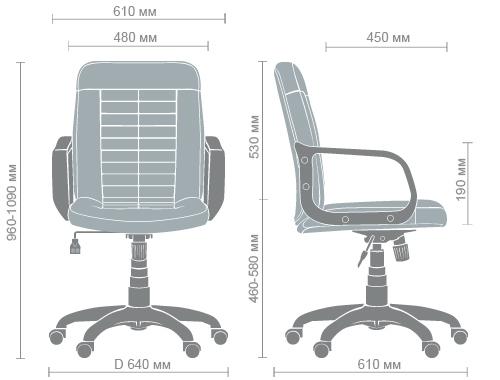 Размеры кресла Нота PL