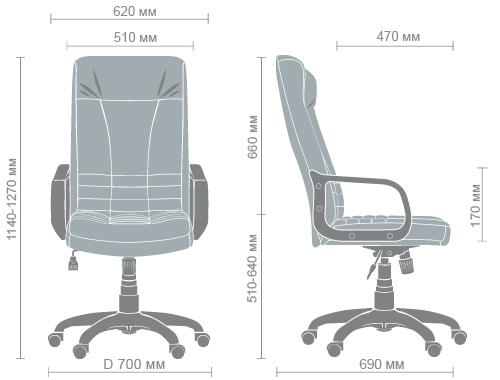 Размеры кресла Ричман