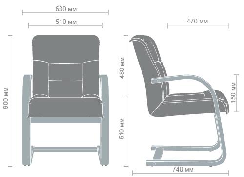 Размеры кресла Роял CF
