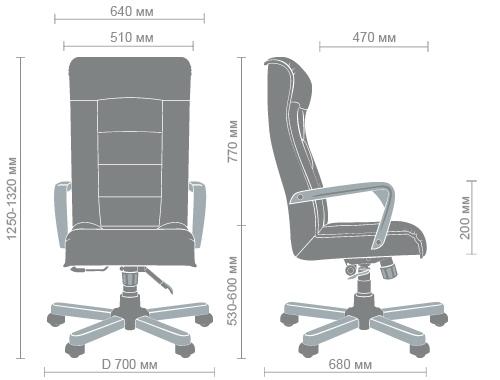 Размеры кресла Роял flash