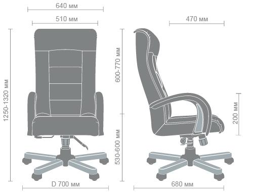 Размеры кресла Роял Люкс anyfix