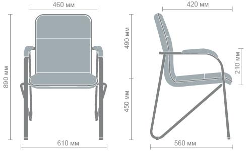 Размеры стула Самба