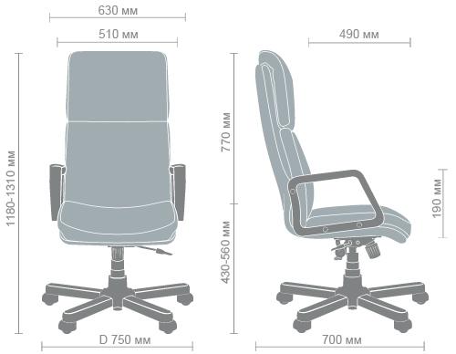 Размеры кресла Техас CF wood