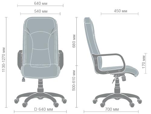 Размеры кресла Торонто PL