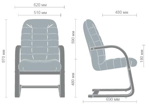 Размеры кресла Тунис CF
