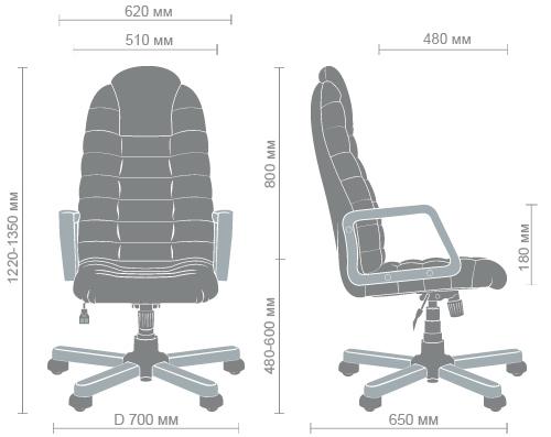 Размеры кресла Тунис extra