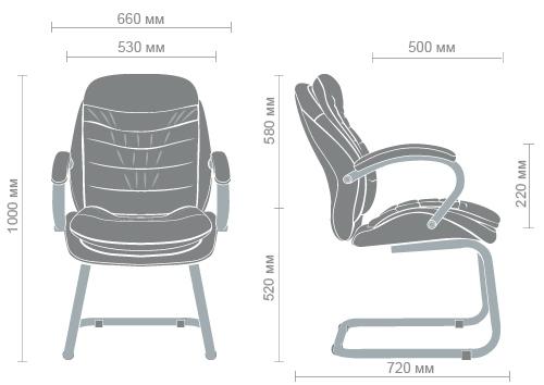 Размеры кресла Валенсия CF