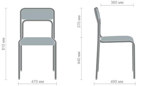 Размеры стула Аскона Хром