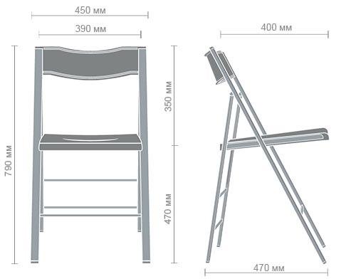 Размеры стула Ибица