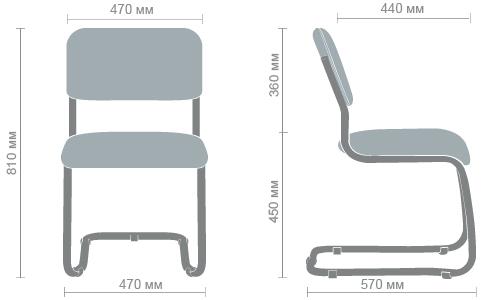 Размеры стула Квест