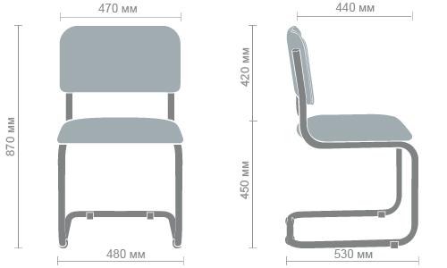 Размеры стула Сильвия